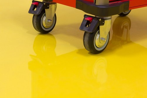 Epoxy garage paint - Wheels of Drawer roller tool cabinet
